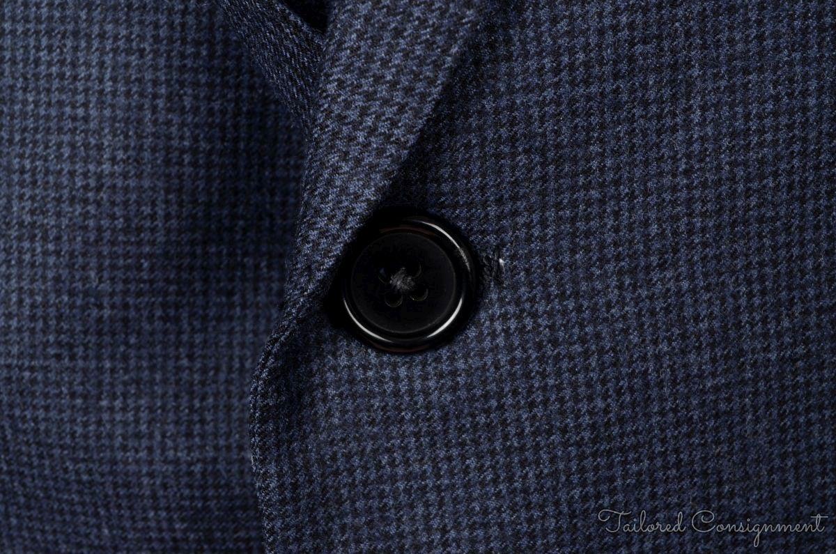 OXXFORD CLOTHES Recent Blue Houndstooth Wool Mens Blazer Sport ...
