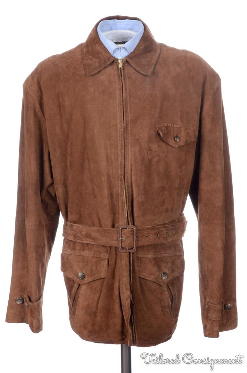 Lauren Ralph Lauren Gold linen (60%) and silk (37%) blend safari style jacket with belt Size 4 A safari style jacket with gold threading that brightens up and modernizes a classic style. 5 buttons, si.