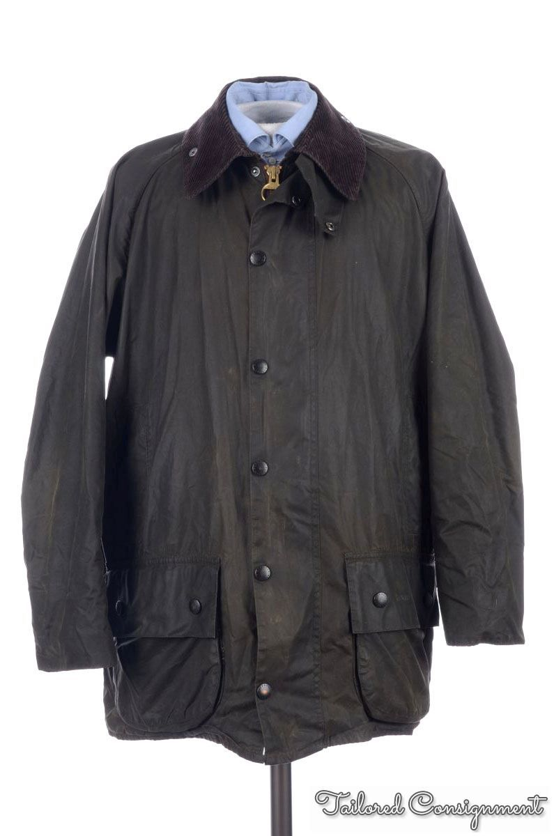BARBOUR Classic Beaufort Green Waxed Cotton Mens Jacket ...