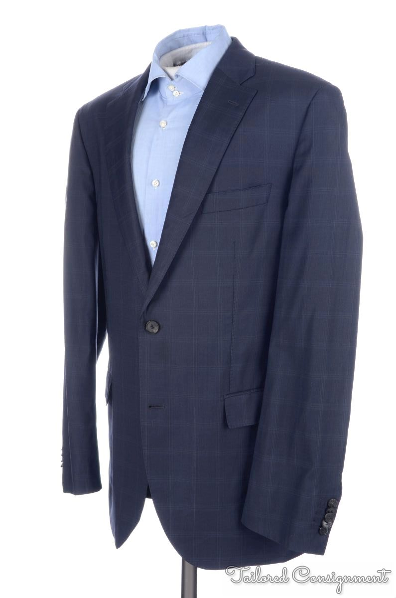 hugo boss selection recent blue check 100 wool blazer. Black Bedroom Furniture Sets. Home Design Ideas