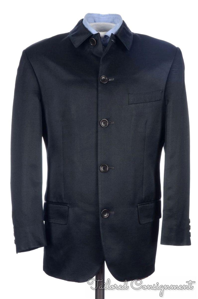 KENZO HOMME Blue Gray SILK WOOL Mens Blazer Sport Coat Jacket - EU ...