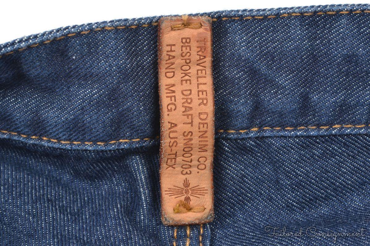 TRAVELLER DENIM CO Blue 100% Cotton Mens Pants Jeans Bespoke - 38 ...