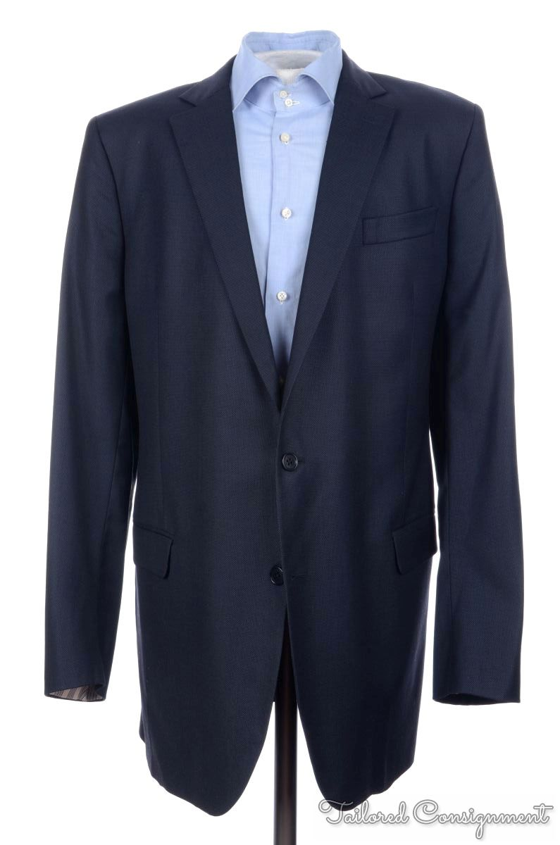BROOKS BROTHERS Madison Blue Birdseye Wool Mens Blazer Sport Coat ...