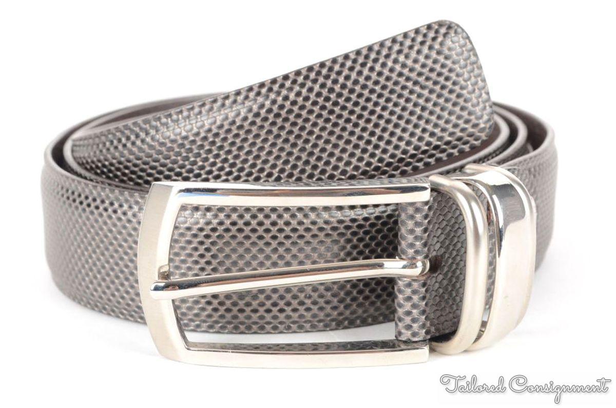 nwt nanni silver black silver buckle mens luxury dress
