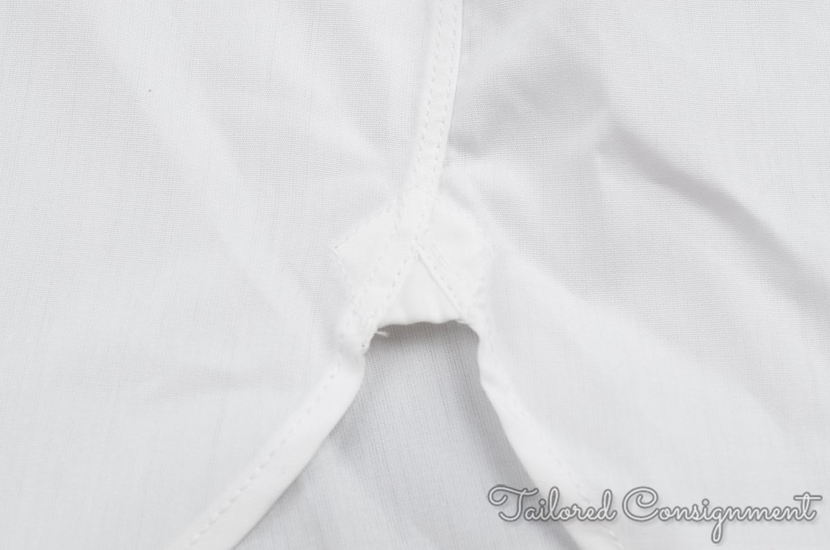 Turnbull Asser White Sea Island Cotton Mens Tuxedo Dress Shirt