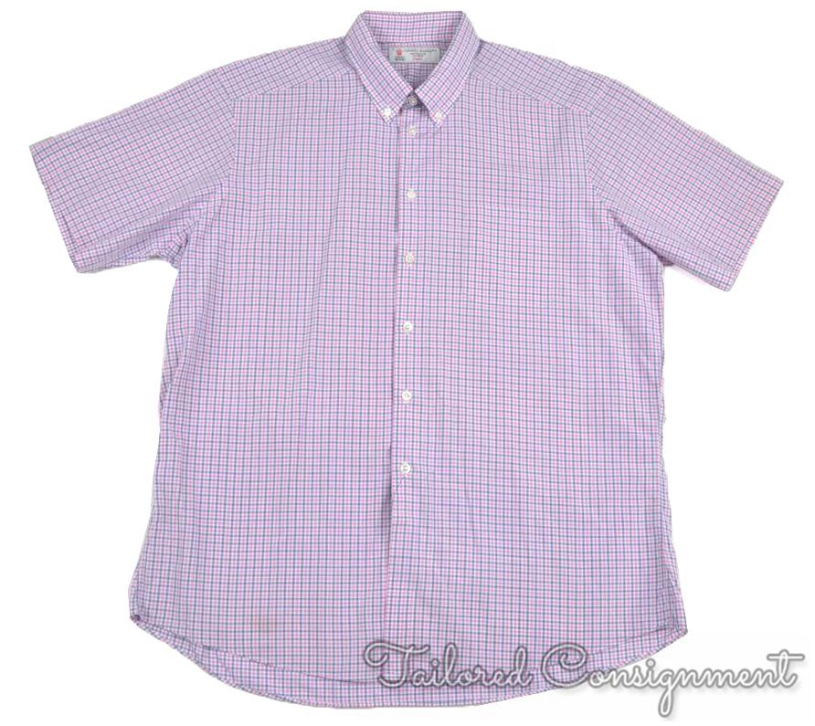 TURNBULL & ASSER Colorful Check 100% Cotton Short Sleeve Luxury ...