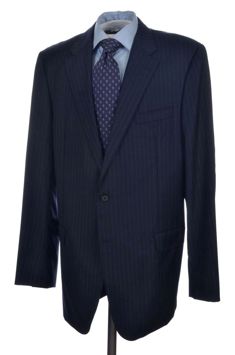ff6b84df HICKEY FREEMAN Current Gold Label Blue Striped Wool Jacket Pants ...