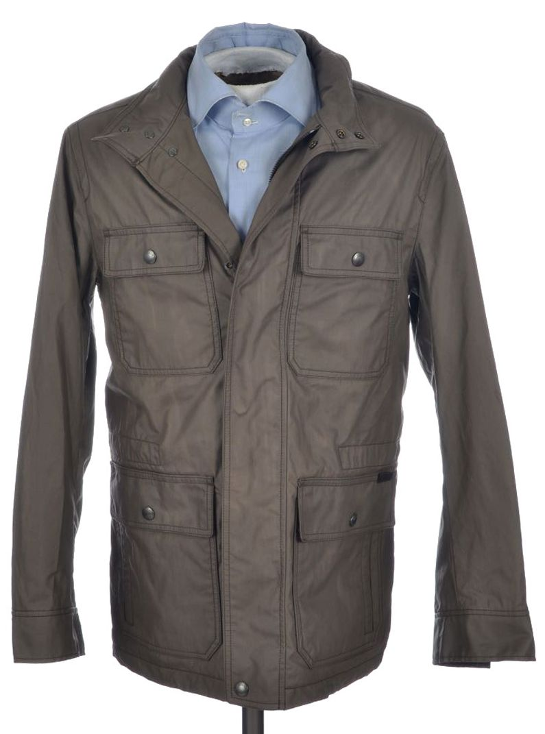 Coach Thompson Blue Solid Cotton Blend Parka Jacket Coat 85645
