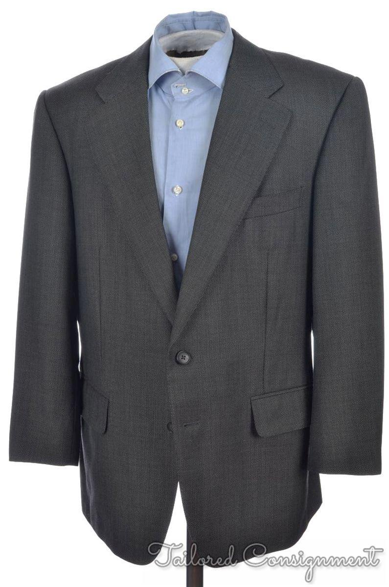 604ffde470 ERMENEGILDO ZEGNA Gray Birdseye 100% Wool Mens Blazer Sport Coat ...
