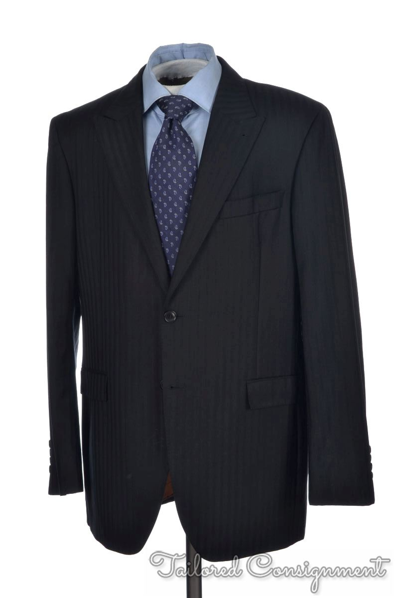 b29e6501 Details about KENZO HOMME Black Shadow Striped 100% Wool Jacket Pants SUIT  - EU 54 / US 44 R