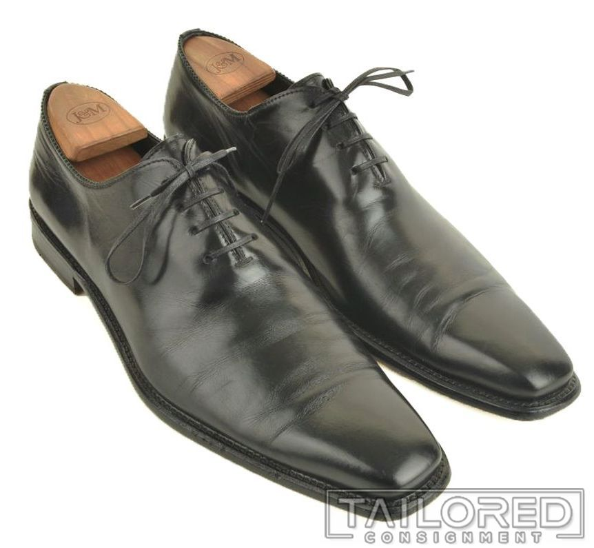 Details about TO BOOT NEW YORK Solid Black Leather Mens Wholecut Oxford Dress Shoes 9